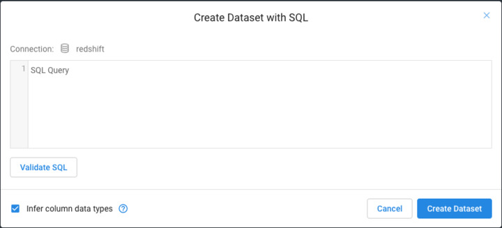 Does the SQL feature after connecting to a DB2 database within